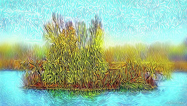 Sunrise Island Light by Joel Bruce Wallach