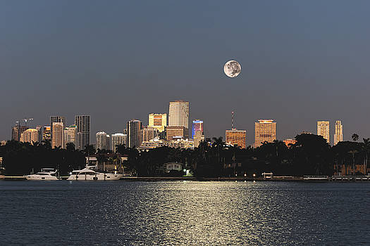 Moonrise Over Miami by Gary Dean Mercer Clark