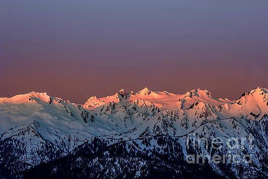 Sunrise of the Olympic Mountains at Hurricane Ridge Washington by Brandon Alms
