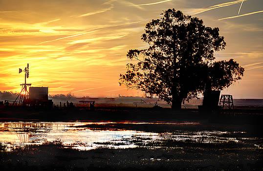 Bruce Bottomley - Sunrise old windmill