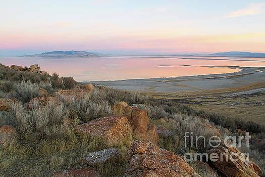Sunrise on Antelope Island by Denise Lilly