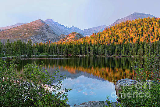 Sunrise on Bear Lake Rocky Mtns by Teri Brown