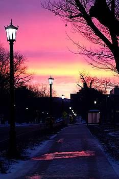 Sunrise on campus by Amy Layton