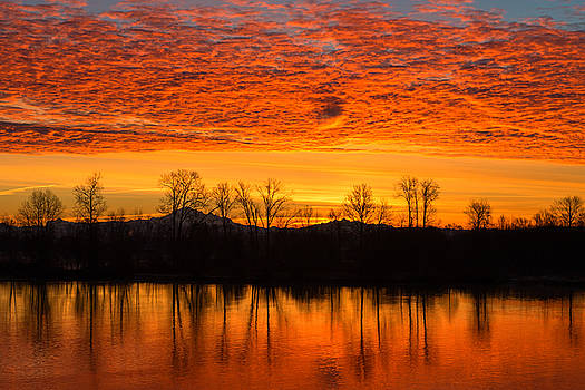 Sunrise on Fraser River by Colin Sands