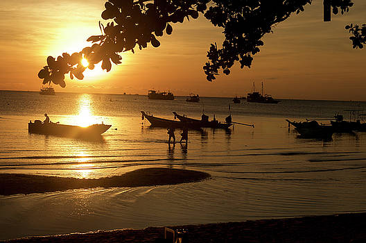 Sunrise on Koh Tao Island in Thailand by Tamara Sushko