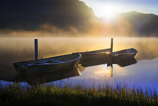 Sunrise on Llyn Nantlle by Mal Bray