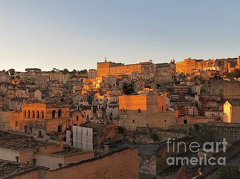 Sunrise on Matera by Laurie Morgan