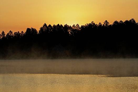 Sunrise on McCollum Lake by Michael Peychich