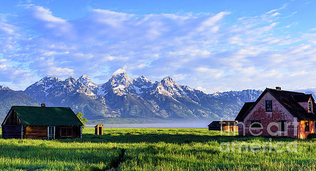 Dr Regina E Schulte-Ladbeck - Sunrise on Mormon Row - Grand Teton National Park
