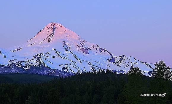 Sunrise On Mt. Hood by Steve Warnstaff