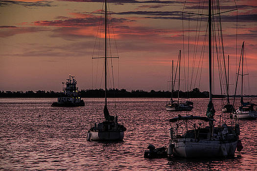 Sunrise on Sarasota Bay, Bradenton Beach by Richard Goldman