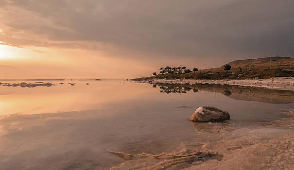 Sunrise on the Dead Sea-1 by Sergey Simanovsky