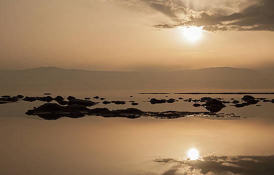 Sunrise on the Dead Sea-3 by Sergey Simanovsky