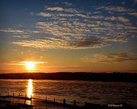 Sunrise On The Mississippi by Kathy M Krause