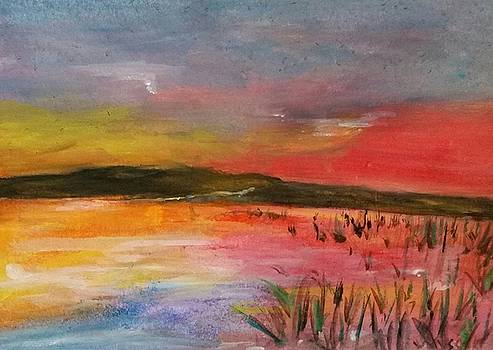 Sunrise on the Water by Sallie Wysocki