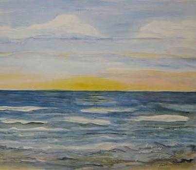 Sunrise On Virginia Beach by Joan Wallace Reeves