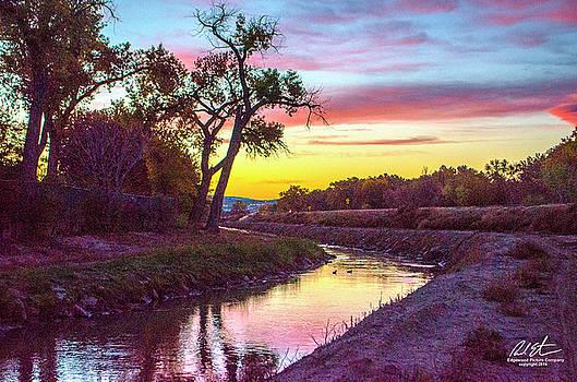 Sunrise Over Acequia by Richard Estrada