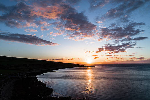 Sunrise over Arran by drone. by Russell Millner