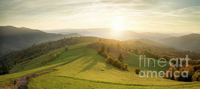 Sunrise Over Autumn Valley by Michael Lesiv