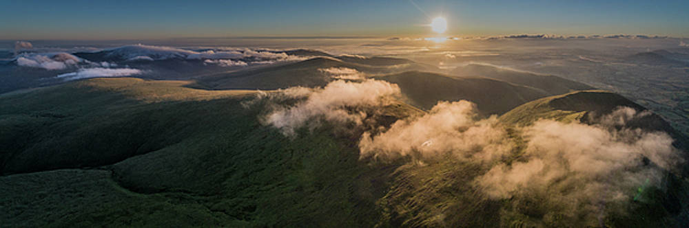Sunrise over Blencathra, Unesco World Heritage Site. by Russell Millner