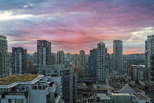Sunrise over downtown Vancouver BC by David Gn