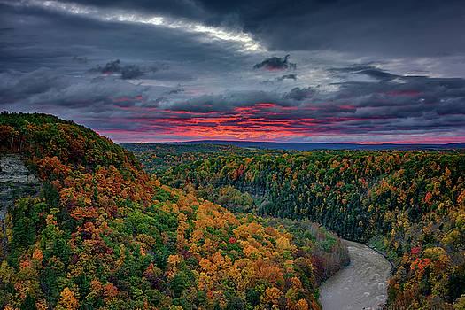 Sunrise Over Genesee River Gorge by Rick Berk