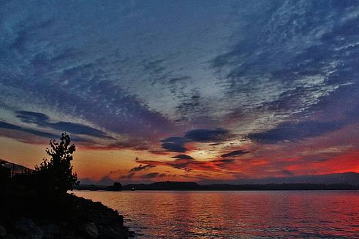 Sunrise Over Haverstraw Bay by Thomas McGuire