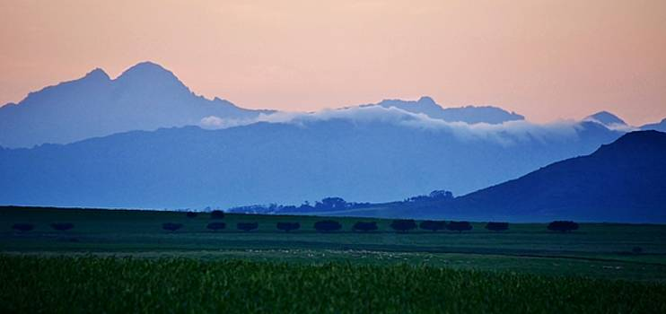Sunrise over Mountains by Werner Lehmann