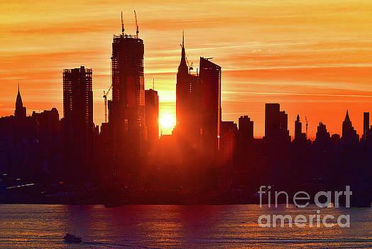 Regina Geoghan - Sunrise over NYC Skyscrapers