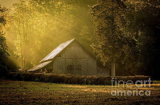Sunrise Over Old Barn by Christopher L Nelson