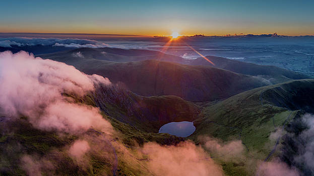 Sunrise over Scales Tarn, Blencathra by Russell Millner