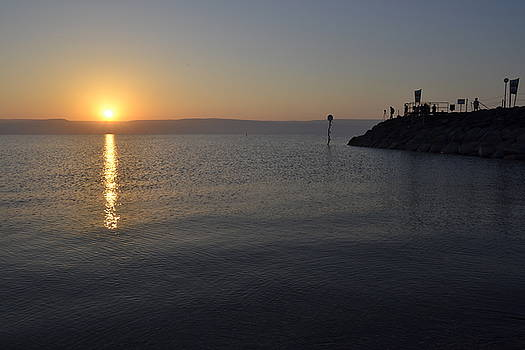 Sunrise Over Sea of Galilee by Atul Daimari