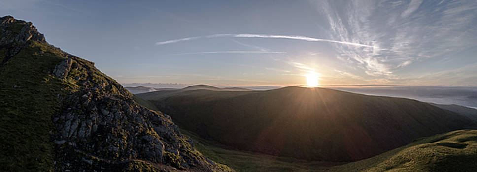 Sunrise over Sharp Edge by Russell Millner