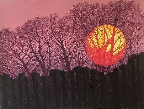 Sunrise Over The Anchorians Playing Field, Darland Avenue by Janet Darley