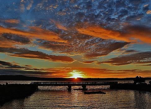 Sunrise Over the Fishing Bridge by Thomas McGuire