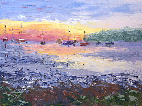 Sunrise Over the Harbor by Mary Haas