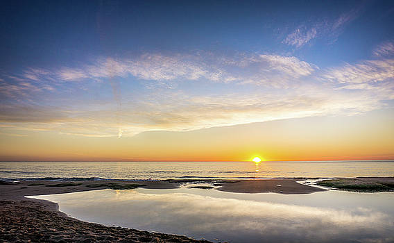 Sunrise Over The Rockpool. by Gary Gillette