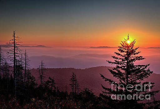 Sunrise Over the Smoky's III by Douglas Stucky