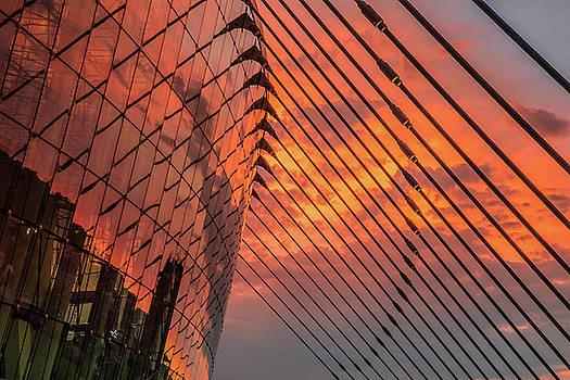 Sunrise Reflections At Kauffman Center by Steven Bateson