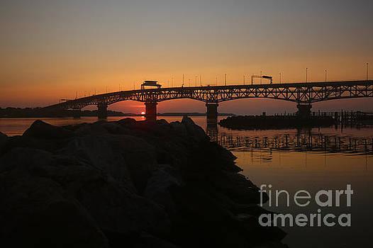 Sunrise River at Yorktown Beach by Rachel Morrison