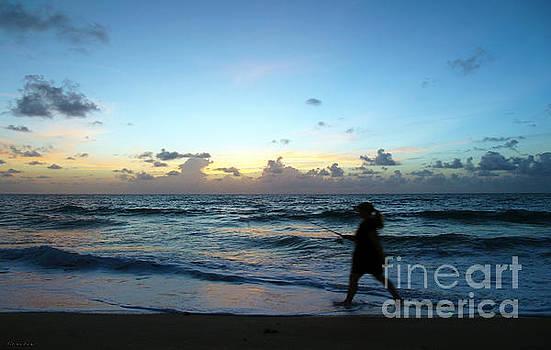 Ricardos Creations - Sunrise Seascape Shore Fishing at Dawn B6