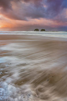 Sunrise Storm At Twin Rocks by Darren White