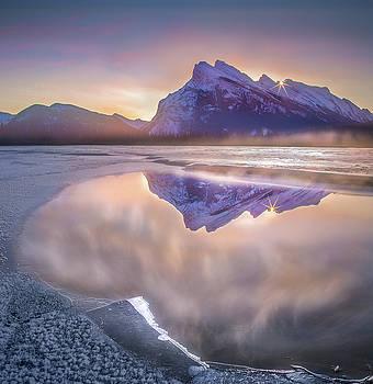 Sunrise Sunburst // Vermillion Lakes, Alberta by Nicholas Parker