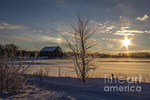 Sunrise Sundog by Marj Dubeau