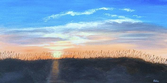 Sunrise Through Sea Oats by Billie Mann