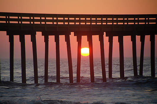 Sunrise through the Pier - 32nd Street Avalon by Bill Cannon
