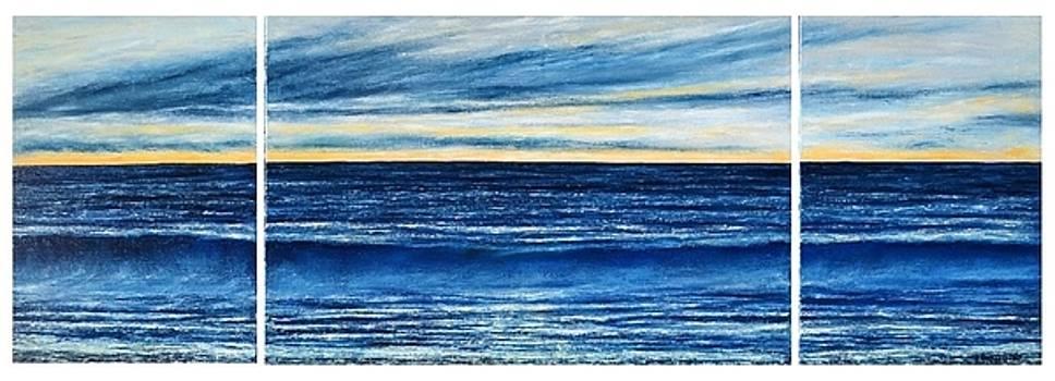 Sunrise Triptych by Dimitra Papageorgiou