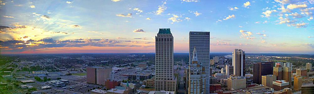 Sunrise Tulsa Panorama by David Bouchard