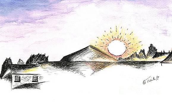 Sunrise Upon My Village  by Teresa White