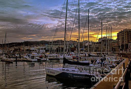 Sunrise Vigo Harbour Galacia Spain by Lynn Bolt